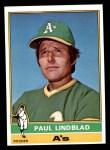 1976 Topps #9  Paul Lindblad  Front Thumbnail