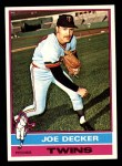 1976 Topps #636  Joe Decker  Front Thumbnail