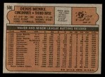 1972 Topps #586  Denis Menke  Back Thumbnail