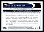 2012 Topps #9  Jesus Montero  Back Thumbnail