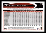 2012 Topps #28  Placido Polanco  Back Thumbnail