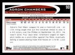 2012 Topps #90  Adron Chambers  Back Thumbnail
