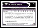 2012 Topps #42  Drew Pomeranz  Back Thumbnail