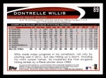 2012 Topps #89  Dontrelle Willis  Back Thumbnail