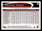 2012 Topps #98  Domonic Brown  Back Thumbnail