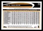 2012 Topps #25  Neil Walker  Back Thumbnail