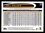 2012 Topps #25  Neil Walker  Back Thumbnail
