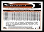 2012 Topps #54  Jhonny Peralta  Back Thumbnail
