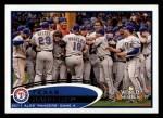 2012 Topps #59   Texas Rangers Postseason Front Thumbnail