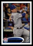 2012 Topps #55  Michael Young  Front Thumbnail