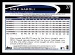 2012 Topps #37  Mike Napoli  Back Thumbnail