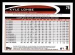 2012 Topps #26  Kyle Lohse  Back Thumbnail