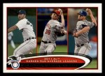 2012 Topps #52   -  Justin Verlander / Jered Weaver / James Shields AL ERA Leaders Front Thumbnail