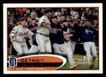 2012 Topps #32   Detroit Tigers Postseason Front Thumbnail