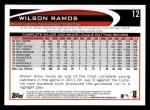 2012 Topps #12  Wilson Ramos  Back Thumbnail