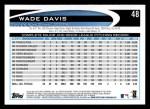 2012 Topps #48  Wade Davis  Back Thumbnail