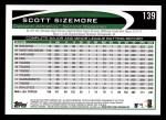 2012 Topps #139  Scott Sizemore  Back Thumbnail