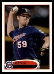 2012 Topps #111  Kevin Slowey  Front Thumbnail