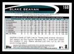 2012 Topps #168  Blake Beavan  Back Thumbnail