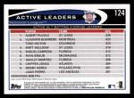 2012 Topps #124   -  Albert Pujols / Vladimir Guerrero / Todd Helton Active NL BA Leaders Back Thumbnail