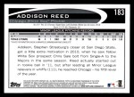 2012 Topps #183  Addison Reed  Back Thumbnail