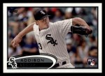 2012 Topps #183  Addison Reed  Front Thumbnail