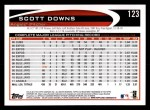 2012 Topps #123  Scott Downs  Back Thumbnail