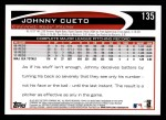 2012 Topps #135  Johnny Cueto  Back Thumbnail
