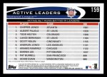 2012 Topps #159   -  Chipper Jones / Albert Pujols / Todd Helton Active NL RBI Leaders Back Thumbnail