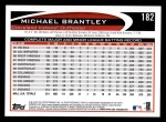 2012 Topps #182  Michael Brantley  Back Thumbnail