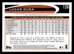 2012 Topps #128  Lucas Duda  Back Thumbnail