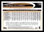 2012 Topps #138  Pedro Alvarez  Back Thumbnail