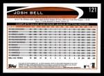 2012 Topps #121  Josh Bell  Back Thumbnail