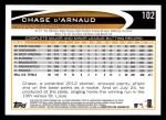 2012 Topps #102  Chase d'Arnaud  Back Thumbnail