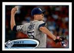 2012 Topps #129  Matt Moore  Front Thumbnail
