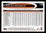 2012 Topps #176  Nolan Reimold  Back Thumbnail