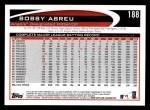 2012 Topps #188  Bobby Abreu  Back Thumbnail