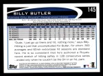 2012 Topps #145  Billy Butler  Back Thumbnail