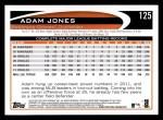 2012 Topps #125  Adam Jones  Back Thumbnail