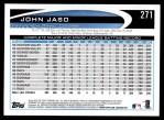 2012 Topps #271  John Jaso  Back Thumbnail