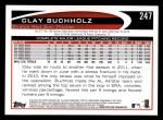 2012 Topps #247  Clay Buchholz  Back Thumbnail