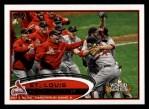 2012 Topps #233   St. Louis Cardianls Postseason Front Thumbnail