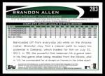 2012 Topps #283  Brandon Allen  Back Thumbnail