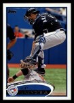 2012 Topps #207  J.P. Arencibia  Front Thumbnail