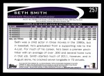 2012 Topps #257  Seth Smith  Back Thumbnail