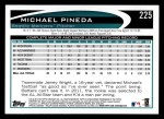 2012 Topps #225  Michael Pineda  Back Thumbnail