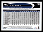 2012 Topps #261  Kyle Blanks  Back Thumbnail
