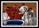 2012 Topps #217   Texas Rangers Postseason Front Thumbnail