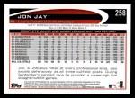 2012 Topps #258  Jon Jay  Back Thumbnail