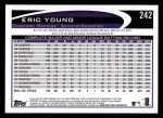 2012 Topps #242  Eric Young  Back Thumbnail